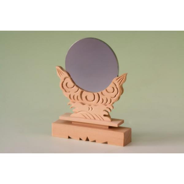 神具 神鏡 3寸 上品 大きさの目安 約高さ15.7cm|omakase-factory|03