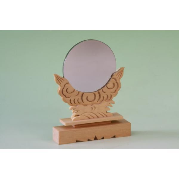 神具 神鏡 3寸 上品 大きさの目安 約高さ15.7cm|omakase-factory|04