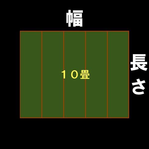 特売品 本間10帖 本間10畳 上敷 ござ い草カーペット 双目織り おまかせ工房 10段階で7ランクの品質|omakase-factory|08