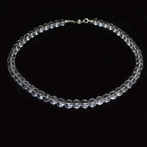 本水晶 ネックレス AAA 偏光板検査済み 本物保証 8mm or 6mm 天然石 パワーストーン 本物 アスリート バレーボール ランナー|omamori-dou|03