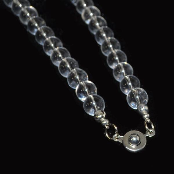 本水晶 ネックレス AAA 偏光板検査済み 本物保証 8mm or 6mm 天然石 パワーストーン 本物 アスリート バレーボール ランナー|omamori-dou|04