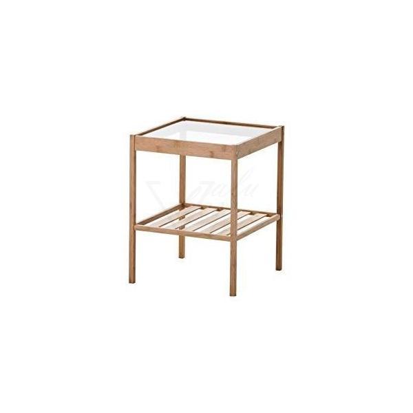 IKEA サイドテーブル NESNA ベット ガラストップ