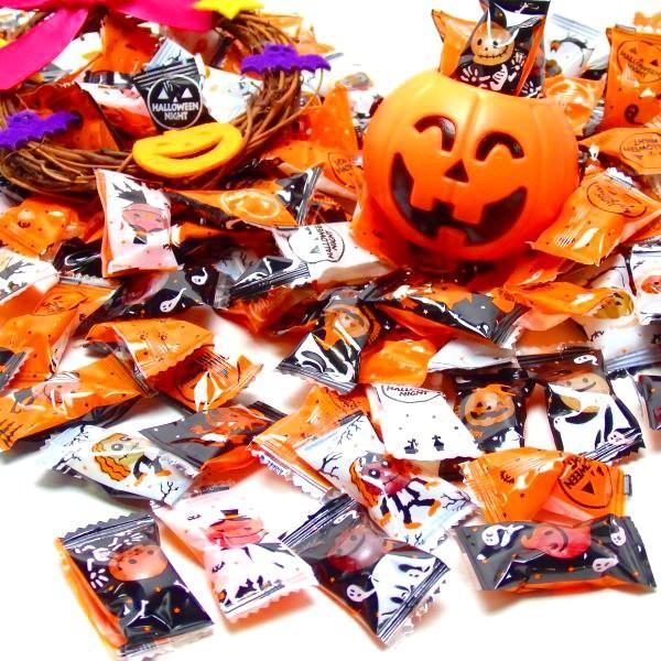 ハロウィン小粒キャンディ1kg袋【約390〜400個】あめ 飴 キャンディ ハロウィン 子供 子供会 幼稚園 ばらまき 配布