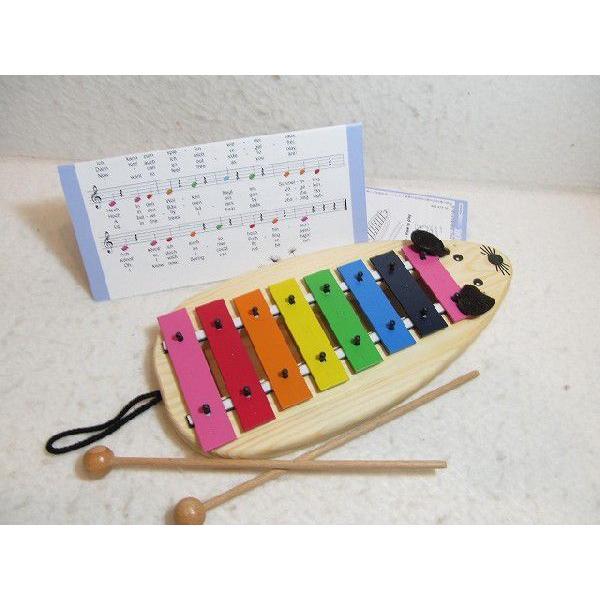 木のおもちゃ ドイツ 木製 知育玩具 マウスメタルフォン(送料無料)ドイツ・ゾノア社製 鉄琴 知育玩具
