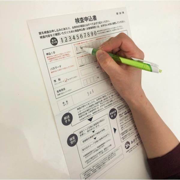性病検査キット【血液2種検査(HIV・梅毒)・ 尿2種検査(クラミジア・淋病)・皮膚検査(カンジダ)/男性用】|omoiyari-kensakit|04