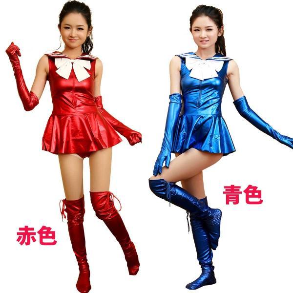 【ピカピカ光る】 メタリック セーラー服風衣装 男性着用可|omosirokurabu|02