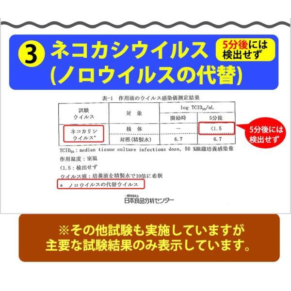 ノロウイルス対策 除菌スプレー シックシャット 80 ハンディタイプ 500ml 次亜塩素酸ナトリウム系|omotesando-club|04