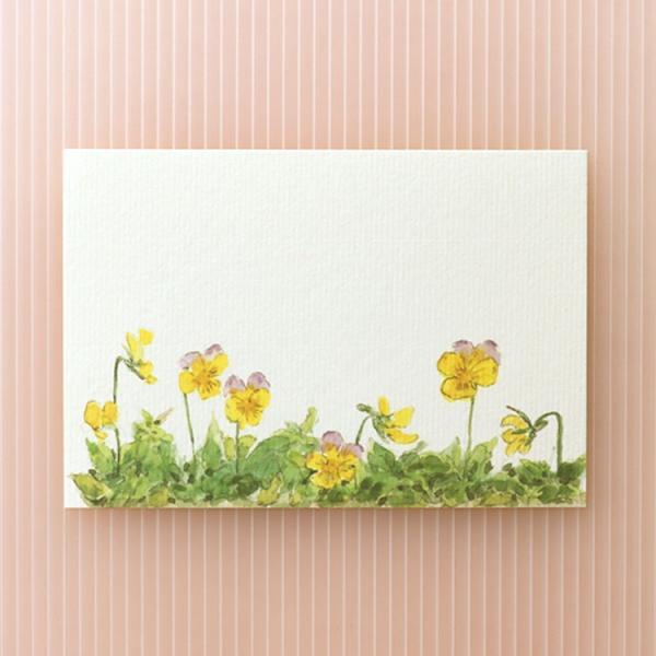 絵葉書 おしゃれ 和紙 季節の絵はがき 春 ビオラ 横
