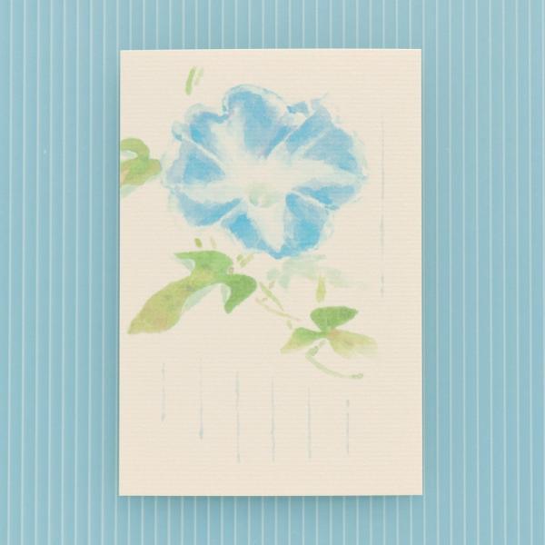 絵葉書 おしゃれ 和紙 季節の絵はがき 夏 大輪朝顔