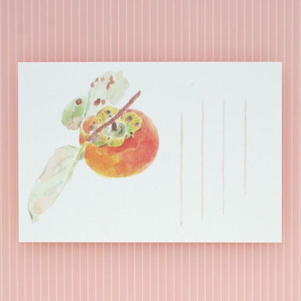 絵葉書 おしゃれ 和紙 季節の絵はがき 秋 柿