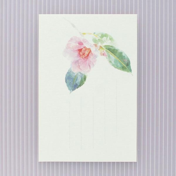絵葉書 おしゃれ 和紙 季節の絵はがき 冬 椿ピンク