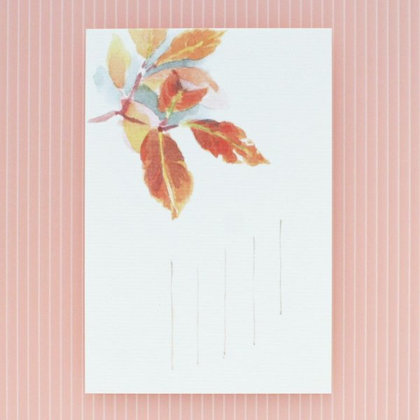 絵葉書 おしゃれ 和紙 季節の絵はがき 秋 照葉
