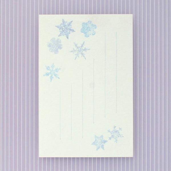 絵葉書 おしゃれ 和紙 季節の絵はがき 冬 雪の結晶