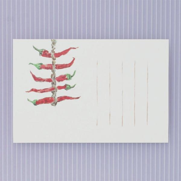 絵葉書 おしゃれ 和紙 季節の絵はがき 冬 唐辛子