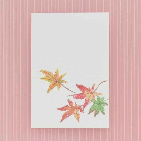 絵葉書 おしゃれ 和紙 季節の絵はがき 秋 散り紅葉