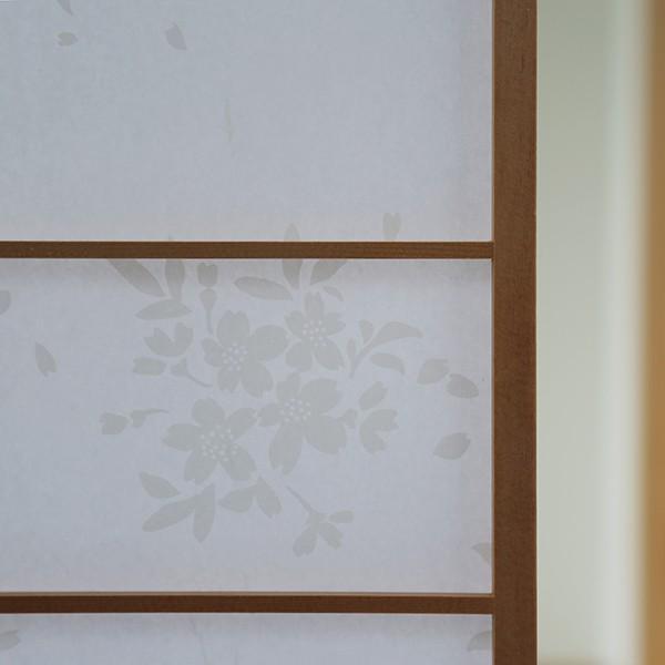 プラスチック障子紙 桜 白(2枚用) on-washi 02