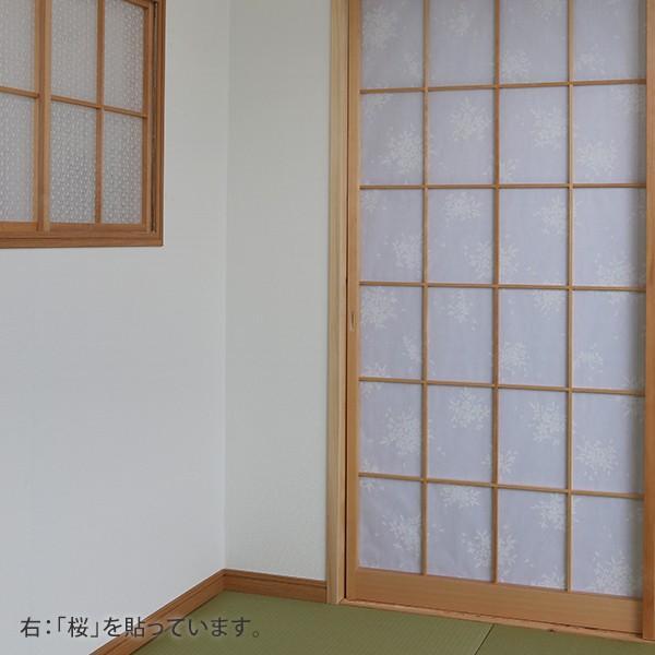 プラスチック障子紙 桜 白(2枚用) on-washi 05