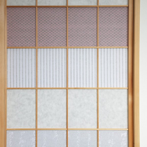 折障子紙 縞文様(一段貼り) 大直 ONAO(ネコポス可) |on-washi|03