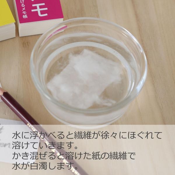 溶けメモ 水に溶けるメモ帳(ネコポス可)|on-washi|06