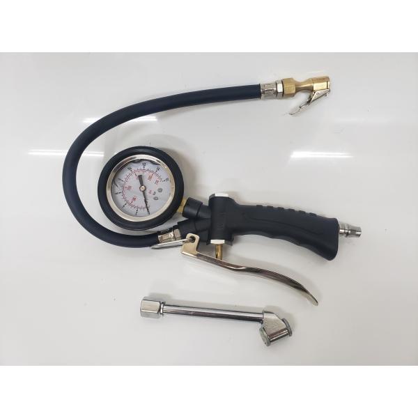 2way プロ仕様 オイル式メーター タイヤゲージ  エアーゲージ 加圧 減圧 測定 自動車用空気入れ ☆エアーゲージ