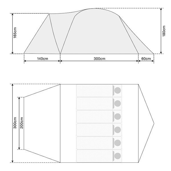 テント ドームテント 4 - 6人用 ドーム型 300cm UVカット シルバーコーティング メッシュ フルクローズテント FIELDOOR キャノピー 送料無料|onedollar8|03