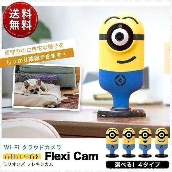 ネットワークカメラ Wi-Fi クラウドカメラ ウェブカメラ web ベビーモニター ペット 見守り カメラ 会話 録画  tend ミニオンズ スマートフォン 送料無料