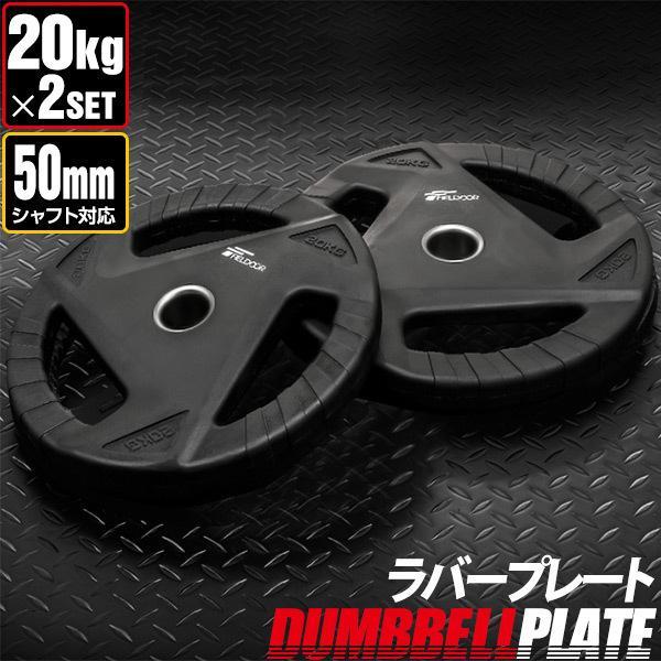 ダンベルプレート 穴あき 20kg 2枚セット 穴径50mm 追加 バーベル用 プレート バーベルプレート ダンベル 筋トレ ホームジム ウエイトトレーニング 送料無料