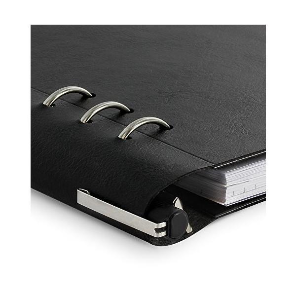 ファイロファックス Filofax クリップブック レザー調 バインダー A5 Black バインダー システム手帳 ダイアリー ノート 送料無料 プレゼント|oneofakind|02