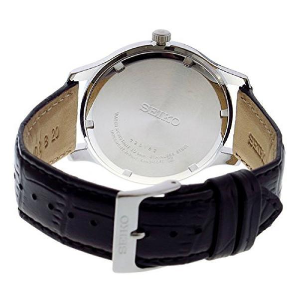セイコー SEIKO 腕時計 SUR225 メンズ ウォッチ Watch Silver Dial Black Leather Band シルバー レザーバンド 防水 アナログ クリスマス プレゼント|oneofakind|03