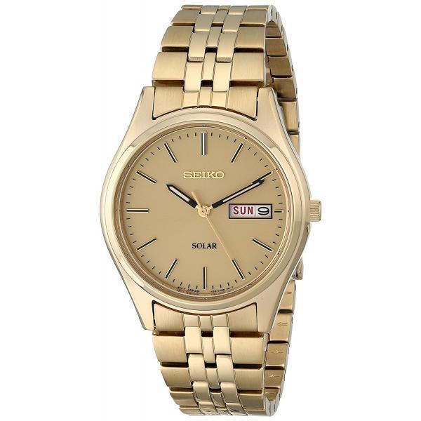 セイコー 腕時計 SEIKO メンズ 腕時計 時計 SNE036 SOLAR ソーラー ゴールド 男性用 ウォッチ 曜日 日付 カレンダー|oneofakind