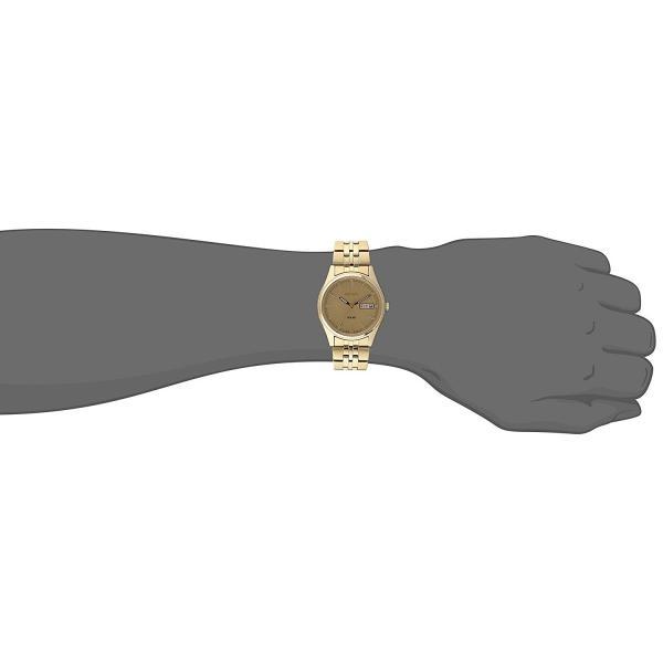セイコー 腕時計 SEIKO メンズ 腕時計 時計 SNE036 SOLAR ソーラー ゴールド 男性用 ウォッチ 曜日 日付 カレンダー|oneofakind|02