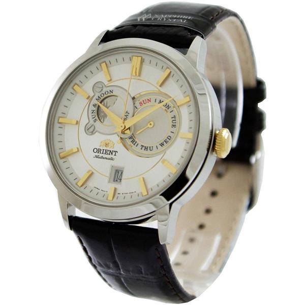 pretty nice 47c3f 1d7c4 オリエント 腕時計 ORIENT メンズ 腕時計 時計 FET0P004W0 サン アンド ムーン SUN AND MOON 自動巻き 男性用  シルバー 送料無料 プレゼント