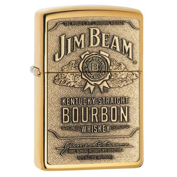 ジッポー ライター ZIPPO ジッポ Jim Beam ジム ビーン ライター 254BJB.929 Brass Emblem オイルライター USA 送料無料 プレゼント|oneofakind