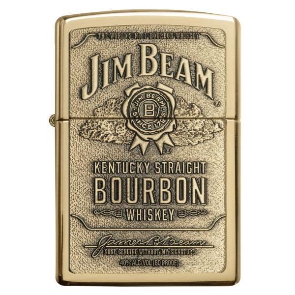 ジッポー ライター ZIPPO ジッポ Jim Beam ジム ビーン ライター 254BJB.929 Brass Emblem オイルライター USA 送料無料 プレゼント|oneofakind|02