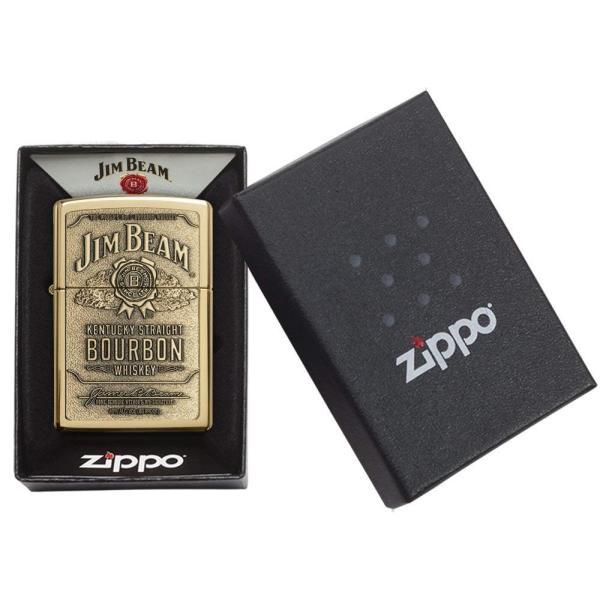 ジッポー ライター ZIPPO ジッポ Jim Beam ジム ビーン ライター 254BJB.929 Brass Emblem オイルライター USA 送料無料 プレゼント|oneofakind|05
