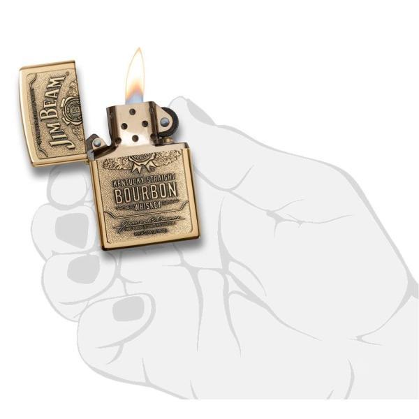ジッポー ライター ZIPPO ジッポ Jim Beam ジム ビーン ライター 254BJB.929 Brass Emblem オイルライター USA 送料無料 プレゼント|oneofakind|06