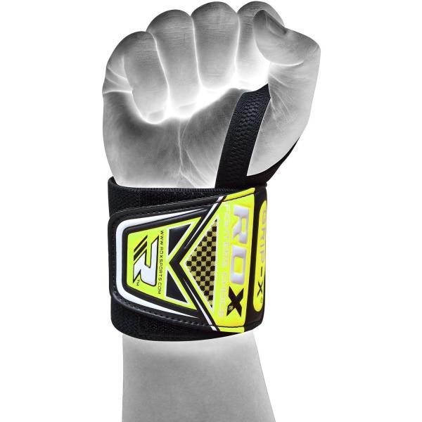 RDX ジム リストラップ トレーニング ウェイトリフティング ボディービル グリーン 格闘技 ロゴ入り|oneofakind|06