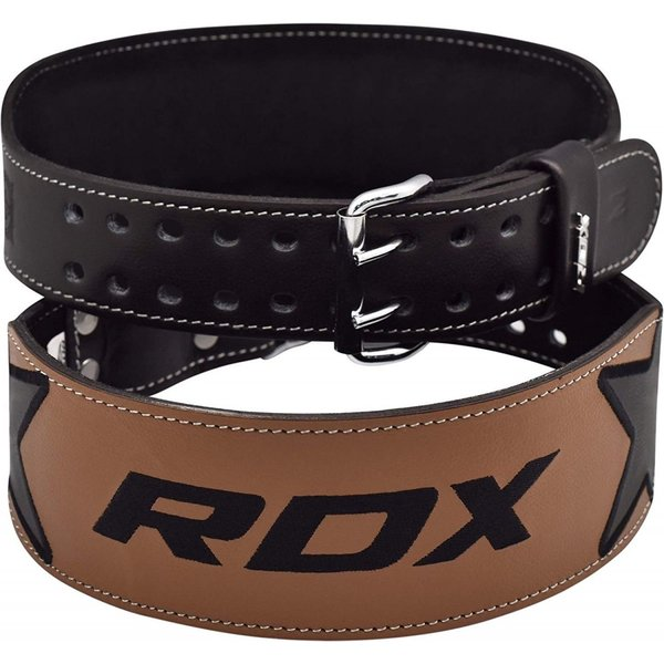 RDX トレーニングベルト BLT-44 パワーベルト ウェイトトレーニング 筋トレ レザー ウエイトリフティング 黒 茶 Mサイズ 送料無料|oneofakind