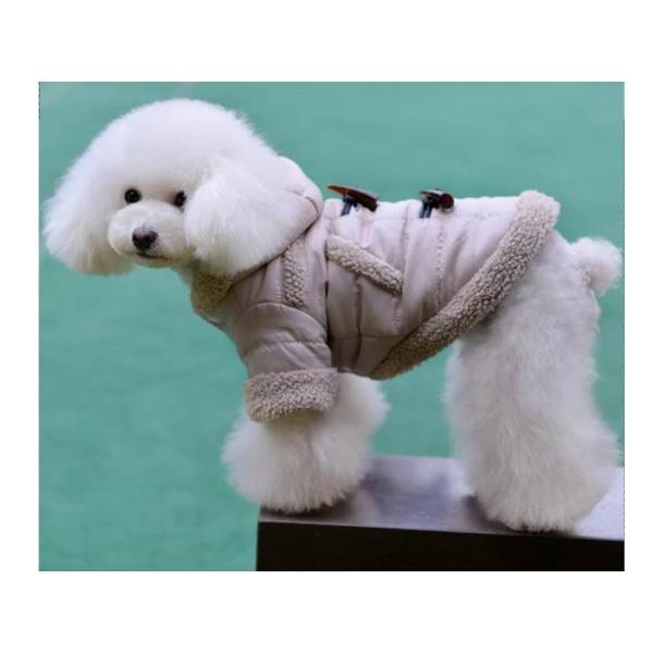 秋冬モデル 犬用 フード付 ダウン もこもこ ダウン 防寒|oneplaceone|05