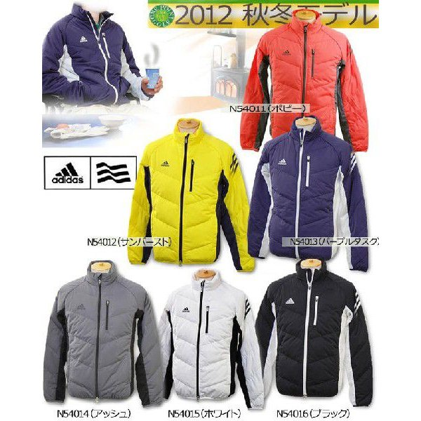 秋冬 ゴルフウエア ジャケット ブルゾン アディダス adidas メンズ2012年秋冬 JP ストレッチ 長袖ダウンジャケット レベル310031669 JM812