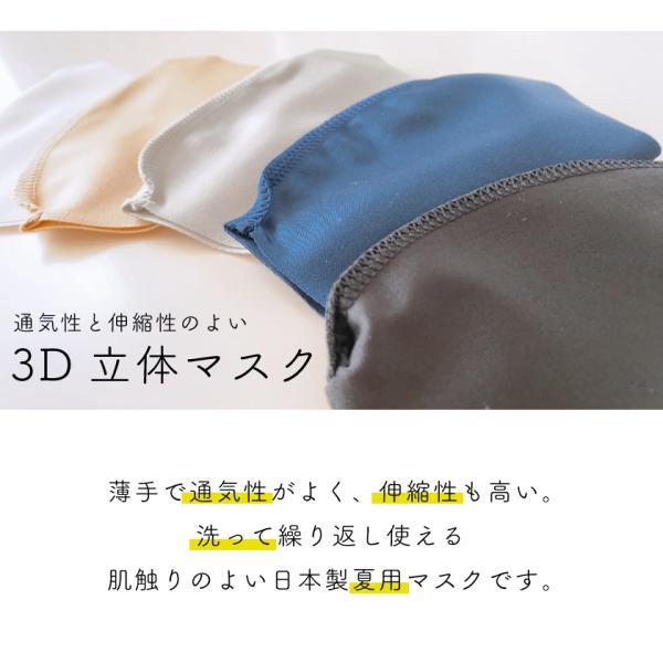 通気性と伸縮性のよい3D立体マスク 夏用洗えるマスク 日本製 UVカット(1枚) ones-concept 02