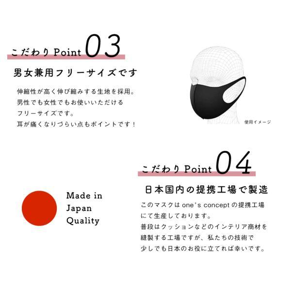 通気性と伸縮性のよい3D立体マスク 夏用洗えるマスク 日本製 UVカット(1枚) ones-concept 05