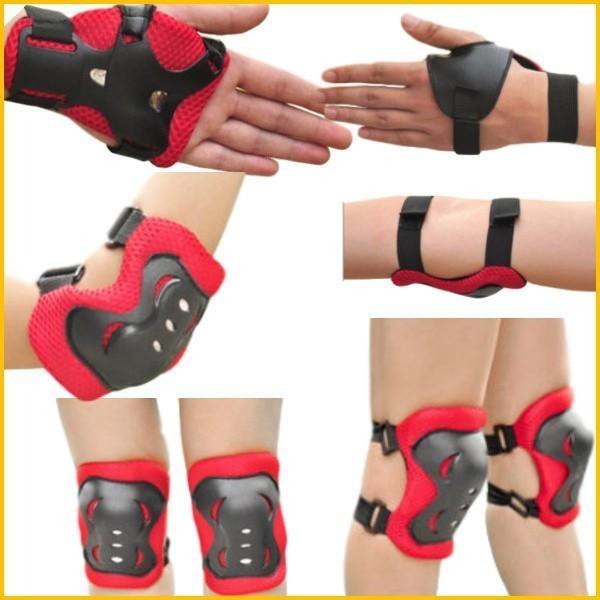 キッズプロテクター 子供用 3点セット 自転車 一輪車 スケボー スケート に 手首 肘 膝保護 子供 練習 パッド|onesshop|02