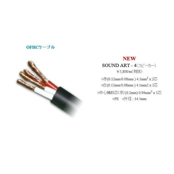SHARKWIRE シャークワイヤー SOUND ART-4 バイワイヤ対応極太切売スピーカーケーブル