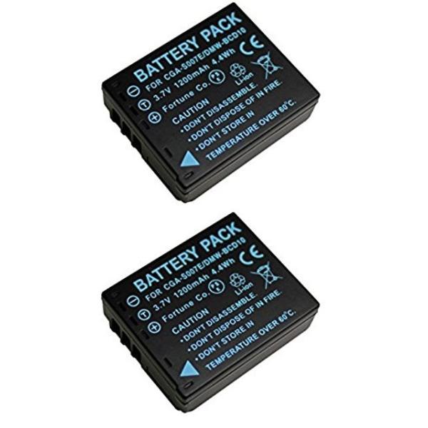 NinoLite DMW-BCD10 互換 バッテリー 2個セット パナソニック LUMIX DMC-TZ1 DMC-TZ3 DMC-TZ5 対応 dmwbcd10x2_t.k.gai