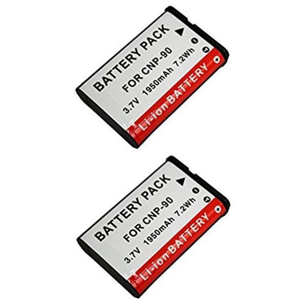 NinoLite NP-90 互換 バッテリー 2個セット カシオ EXILIM EX-FH100 EX-H10 EX-H15 EX-H20G 対応 np90casiox2_t.k.gai