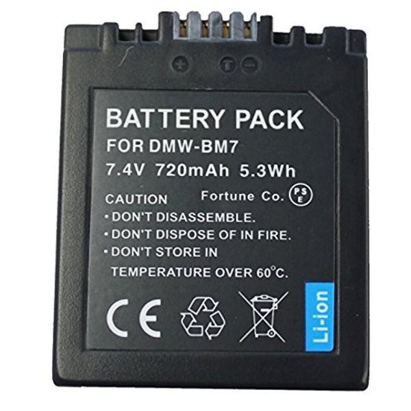 NinoLite DMW-BM7 互換 バッテリー パナソニック DMC-FZ1 DMC-FZ2 DMC-FZ3 DMC-FZ5 DMC-FZ10 等対応 dmwbm7_t.k.gai