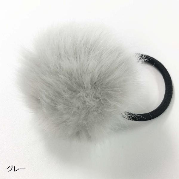 ポンポン ファー ヘアゴム ヘアアクセサリー 秋冬 髪飾り 髪留め(メール便送料無料)