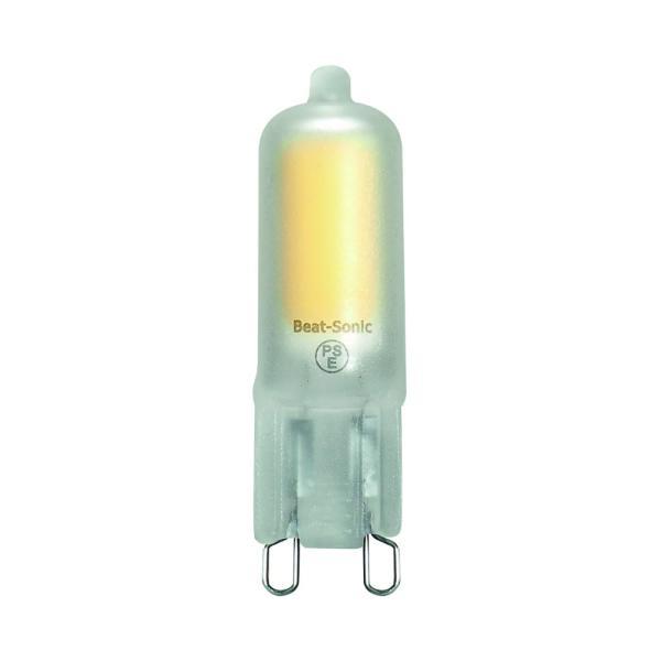 LEDフロスト電球(口金 G9)LDC2 ハロピン ナツメ電球 T型 電球色 only1-led