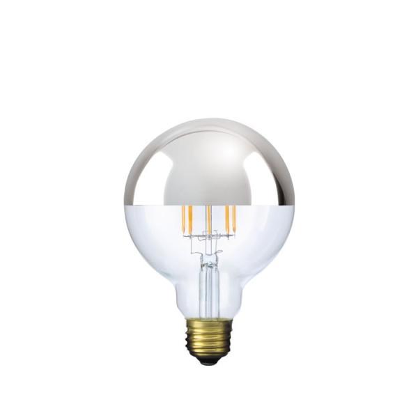 【フィラメントLED電球「Siphon」ボール95 LDF34】E26 Silver mirror 暖系電球色 Tミラー レトロ アンティーク インダストリアル ブルックリン  間接照明 ランプ|only1-led|02
